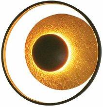 Satellite Eisen Wandleuchte in Schwarz Braun Gold