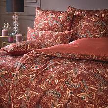 Satin-Bettwäsche mit floralem Paisley-Muster in