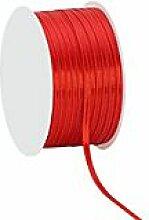 Satinband, rot, 3 mm, 50 m