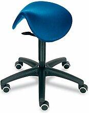 Sattelsitz-Hocker, Sitzneigung, Polster blau von Lotz