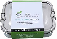 Sattvii® Edelstahl Eco Lunchbox & Brotdose |