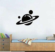 Saturn Planet Design Aufkleber Vinyl Wandaufkleber