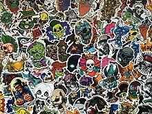 Satz Aufkleber Schädel, Skelette, Zombie, Horror