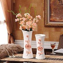 Satz mit 2 Wohnzimmer Schlafzimmer Esstisch Keramik Vase, Rosa für die Mittelstücke Weihnachten Geburtstag Hochzeit Party Geschenk Desktop Home Decor
