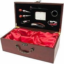 Satz Set Werkzeug Kellnermesser, Holz, dunkelbraun