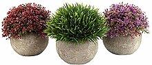 Satz von 3 künstlichen Bonsai Art Plant des