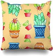 Satz von 4 Throw Pillow Cover Square 18 x 18 Zoll