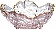Saucenschälchen Snackschale Blumenform Glas Mini