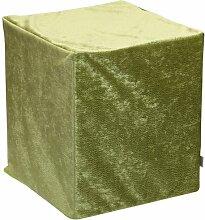 Sauermilch 1301404045009 Glow Sitzwürfel, 40 x 40 x 45 cm, grün