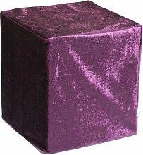 Sauermilch 1302404045005 Glam Sitzwürfel, 40 x 40 x 45 cm, lila