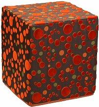 Sauermilch 1303404045039 Curl Sitzwürfel, 40 x 40 x 45 cm, orange