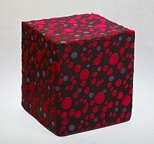 Sauermilch 1303404045077 Curl Sitzwürfel, 40 x 40 x 45 cm, rosa