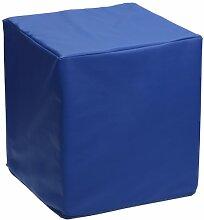 Sauermilch 1305404045027 Look Sitzwürfel, 40 x 40 x 45 cm, blau