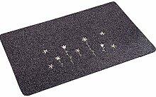 Saugfähige Tür-Mat Eintrag Matten Fußmatte Boden Teppichboden Teppich, Grau
