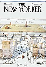 Saul Steinbergs The New Yorker Magazin Cover NYC