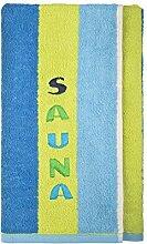 Sauna Handtuch, Wellness Handtuch, Badetuch, Strandtuch, Saunatuch (Grün Blau)