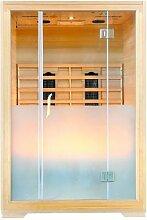 Sauna Infrarot Sauna Wärmekabine Modell Oslo infrarot Sauna Hemlock CD Radio Ozon Leselampe Farblich