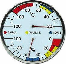 Sauna Kombiinstrument Thermometer Hygrometer Modell ELECSA 9216