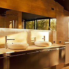 Sauna - LED Spiegel mit Beleuchtung für das Badezimmer - individuell nach Maß - deutsche Produktion - (B) 40 cm x (H) 90 cm