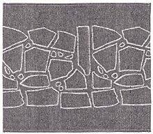 Sauna Sitzunterlage -Liuskeet- Leinen, Schwarz, 43x50 cm