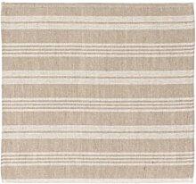 Sauna Sitzunterlage - Streifen, Beige, 2 Stück, 45x50 cm (Pinetta)