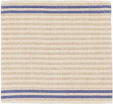 Sauna Sitzunterlage - Streifen, Blau, 2 Stück,