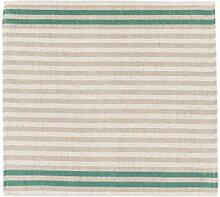 Sauna Sitzunterlage - Streifen, Grün, 2 Stück, 45x50 cm (Pinetta)