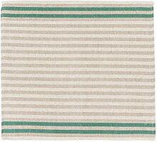 Sauna Sitzunterlage -Streifen- Grün, 2 Stück, 45x50 cm
