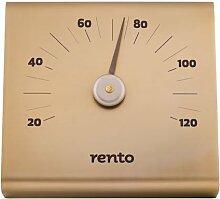 Sauna Thermometer, aluminium, natur silber