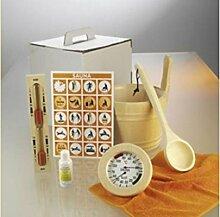 Sauna Zubehörset Premium 6-tlg. Aufgusskübel,