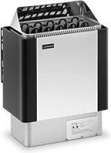 Saunaofen - 8 kW - 30 bis 110 °C - Edelstahlblende