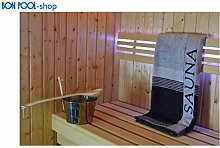 Saunatuch anthrazit 80x200cm Handtuch Sauna BON