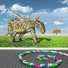 Sauropelta Dinosaurier Wandbild Jura Foto-Tapete Kinderzimmer Wohnkultur Erhältlich in 8 Größen Extraklein Digital