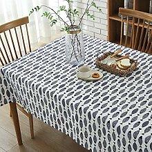 Saury New Cotton Linen Kunstdruck Tischdecke Home