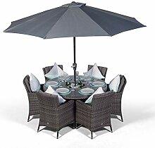 Savannah Rattan Gartenmöbel Set für 6 Personen