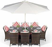 Savannah Rattan Gartenmöbel Set für 8 Personen