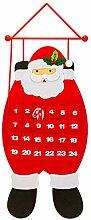 SAVITA Adventskalender Santa, 3D Filz Nikolaus