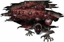 Savlot 3D Boden Aufkleber Dekor Halloween