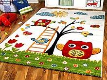 Savona Kinder Teppich Kids Glückliche Eulenwelt