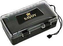 Savoy Black Clear Top Travel Cigar Humidor