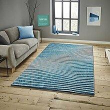 Savoy Läufer Bettumrandung im Modernen Design Teppich Florhöhe 11 mm Farbe Türkis Größe: 80x300 cm