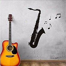 Saxophon Musiknoten Wandkunst Aufkleber Für