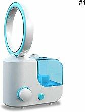 Say Hello Bladeless Luftbefeuchter Fan Luftreiniger Luftbefeuchter Bladeless Fan Ultraschall Circular (Blau)