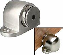 Sayayo Boden-angebrachte magnetische Türstopper-Türhalter mit der Fangs-Schraube angebracht, gebürstetes Edelstahl beendet, EMX5003