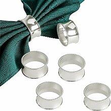 SAYOU® 6er Set Serviette Ringe / Serviettenhalter Ringe für Hochzeit, Partei (Silber)