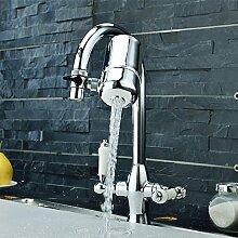Sayou® Wasserhahn Filter / Drehbar Wasser Filtersystem / Wasserfilter Wasserhahn / Leitungswasser Filter für Küche