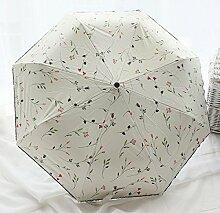 SBBCW Frische Vollautomatische Vinyl Sonnenschutz- Ms Taschenschirm UV Umbrella