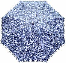 SBBCW Kreativ Zwei Falten Drucken Damen Super Sonnenschutz Sonne Regen Oder Sonnenschein Dual-Regenschirm