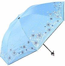 SBBCW Regenschirm Vinyl Sonnenschutz- Doppelt Druck Schattierung Anti-UV Falzen Prinzessin Sonnenschirm
