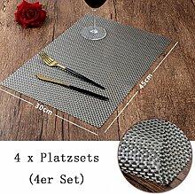 sbfwh Tischset - Platzset 4er Set abwaschbar